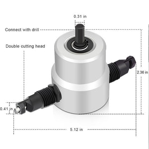 Heavy Duty Nibbler Metal Cutter Adapter