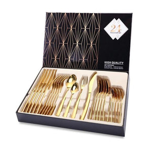 24Pcs Tableware Cutlery Set