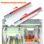 Refrigerator Slide-out Zip Food Storage Bags Holder
