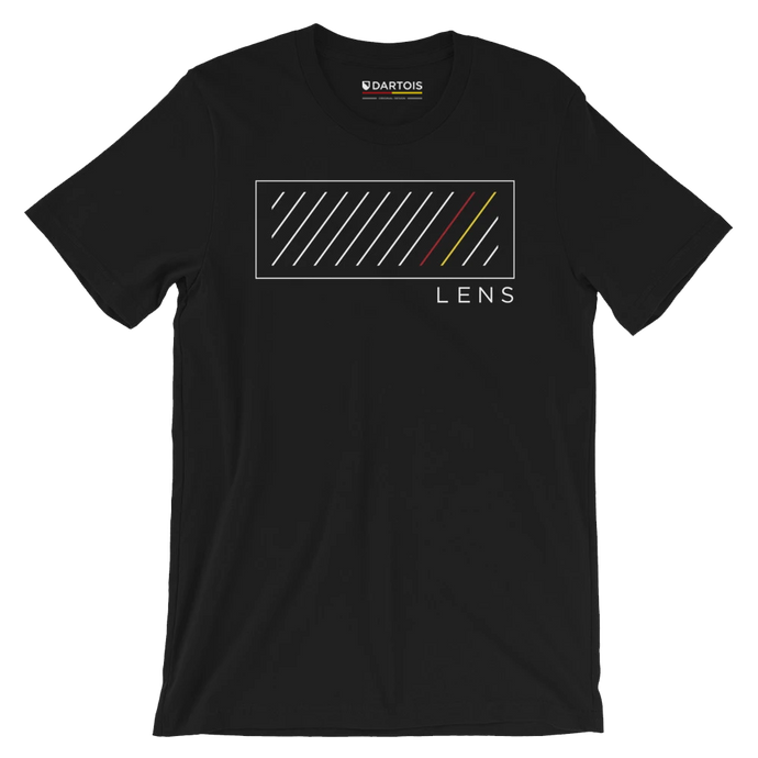 DARTOIS tee shirt rc lens noir rectangle