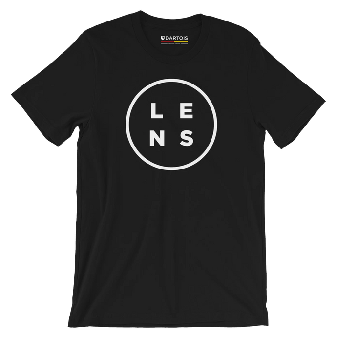 DARTOIS tee shirt rc lens noir rond central