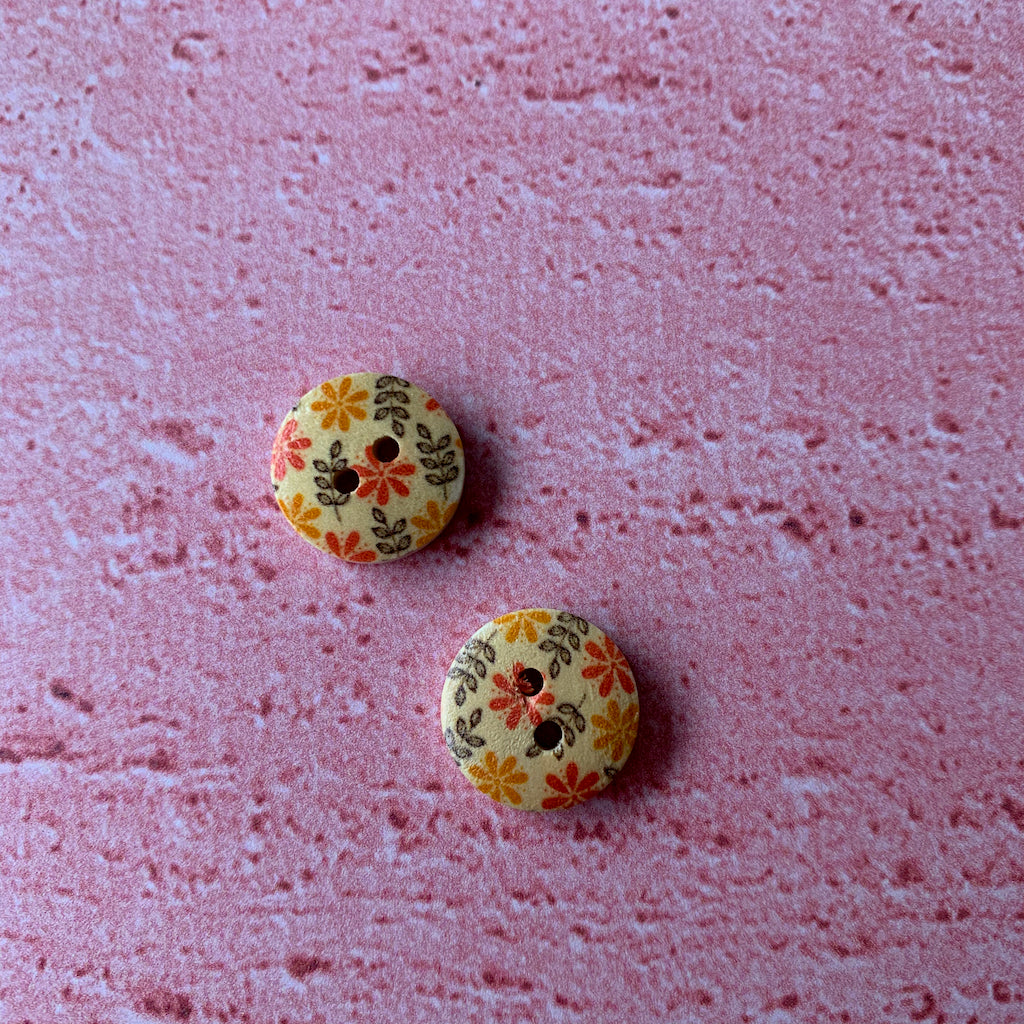 Buttons 1/2 inch  x 2