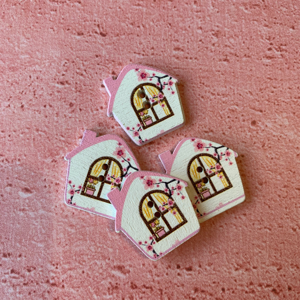 Pink House Buttons