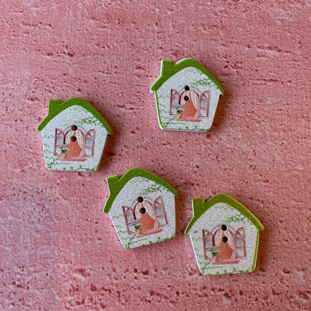 Green House Buttons x 4