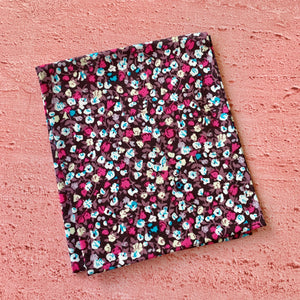 Fat Quarter, Black Background and Ditsy Flowers