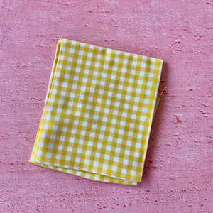 Fat Quarter, Yellow Chequered