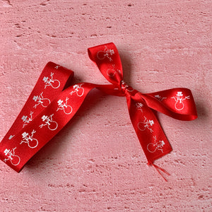 Christmas Ribbon, Satin, Snowman