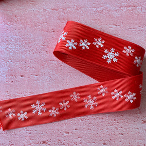 Christmas Ribbon with Snowflakes