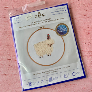 DMC, Hooped Embroidery Kit, For You! Sheep