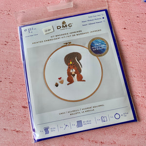 DMC, Hooped Embroidery  Kit, Acorns! Squirrel