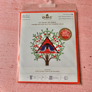 "DMC Easy Cross Stitch Kit,  5.9"" x 6.6"",  Bird House"