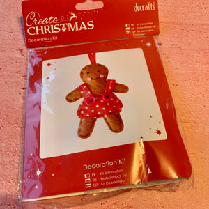 Create Christmas, Decoration Kit, Gingerbread Girl.