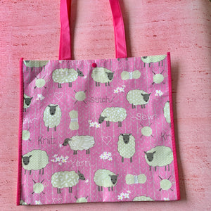 Tote Bag, Pink Sheep