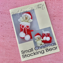Load image into Gallery viewer, Knitting By Post, Small Christmas Stocking Bear