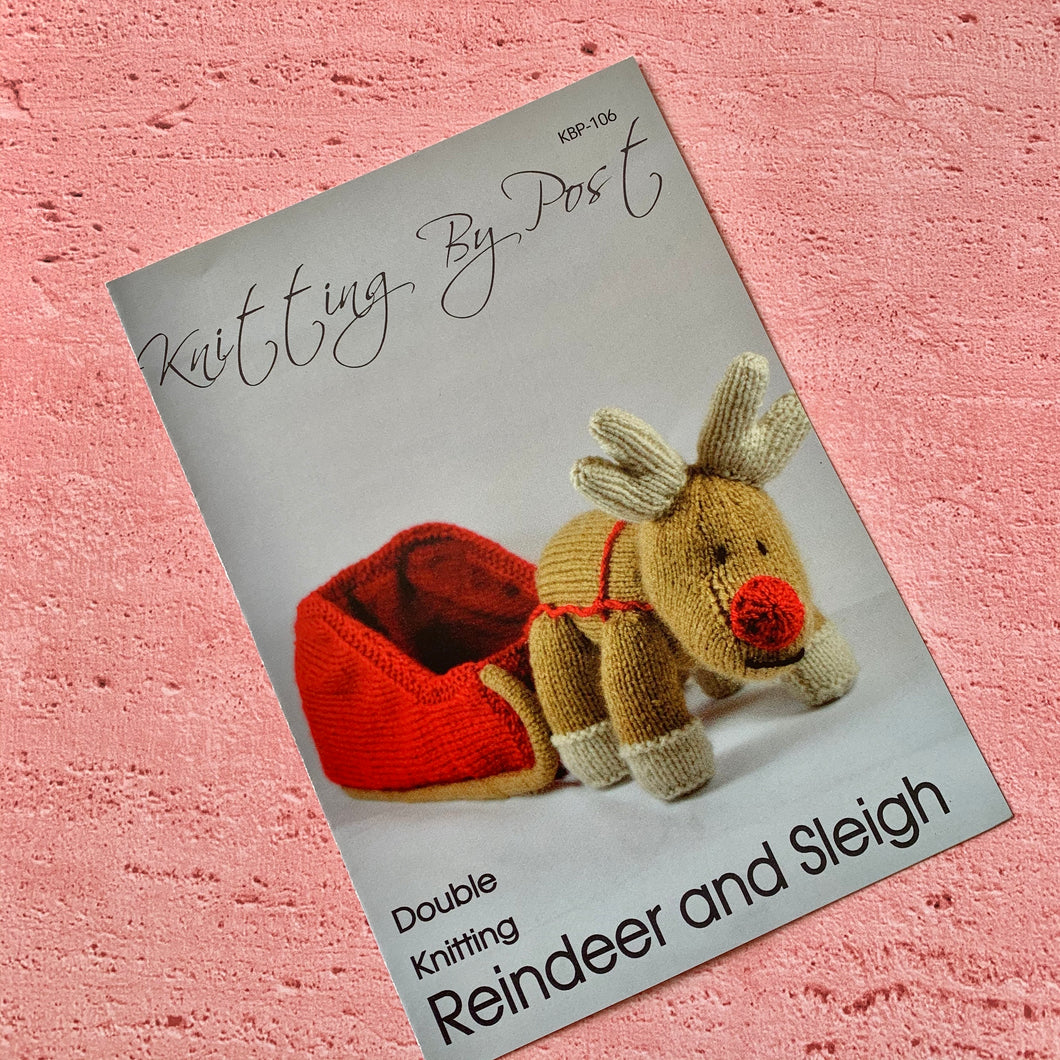 Knitting By Post, Reindeer and Sleigh