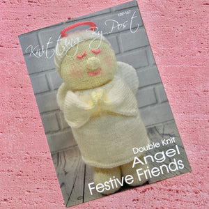 Knitting By Post, Angel Festive Friends