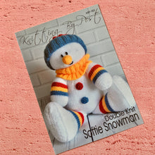 Load image into Gallery viewer, Knitting By Post, Softie Snowman