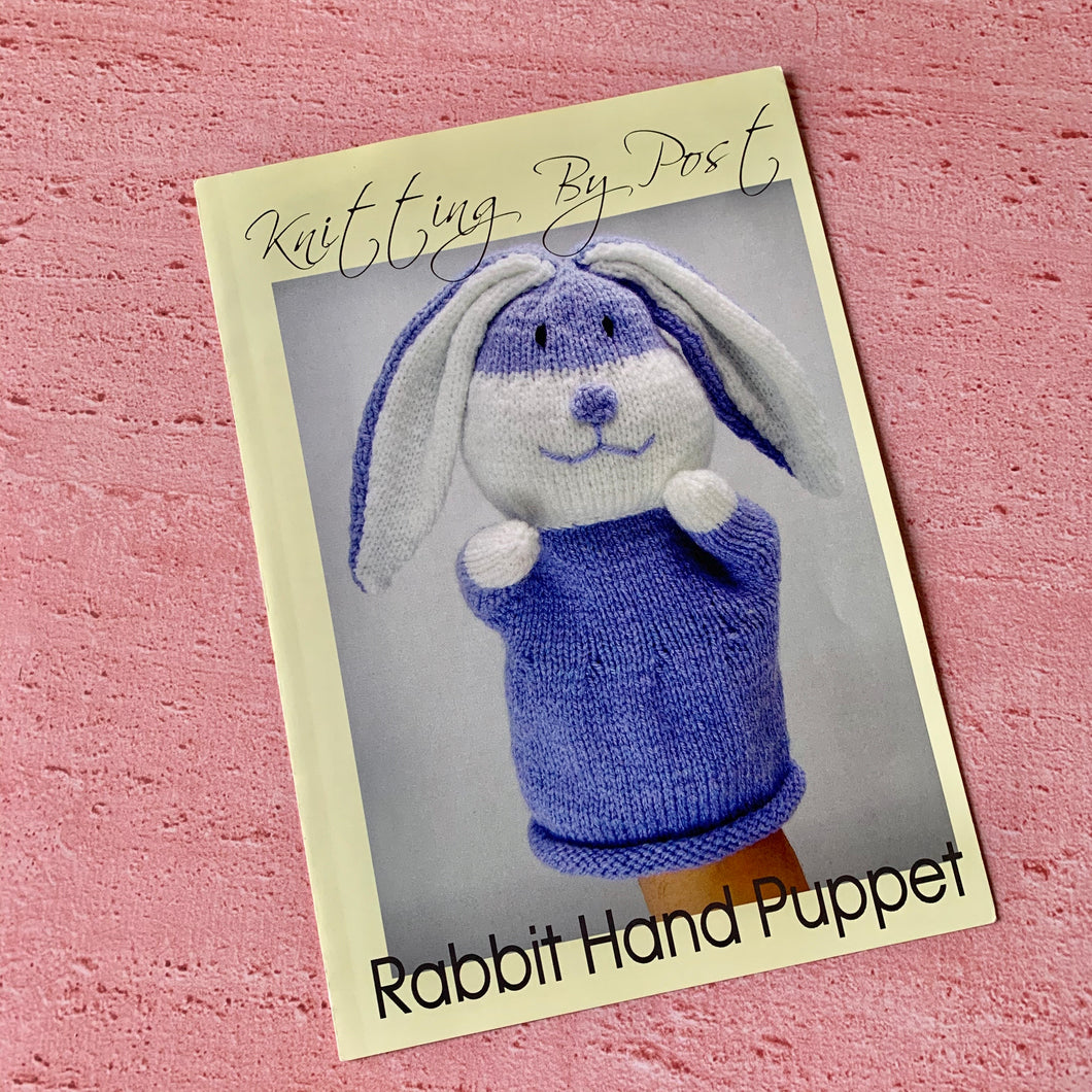 Knitting By Post, Rabbit Hand Puppet, Knitting Pattern