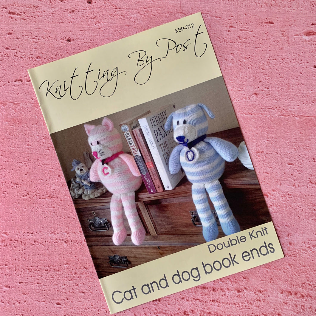 Knitting By Post, Cat and Dog Book Ends
