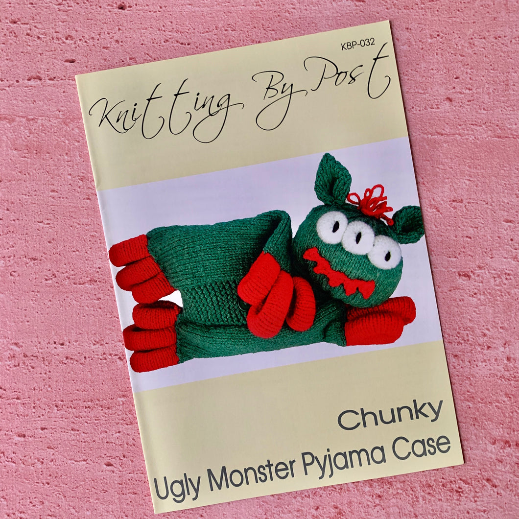 Knitting By Post, Ugly Monster Pyjama Case