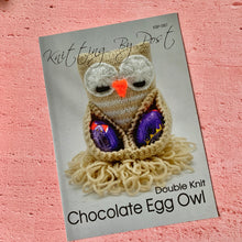 Load image into Gallery viewer, Knitting By Post, Chocolate Egg Owl
