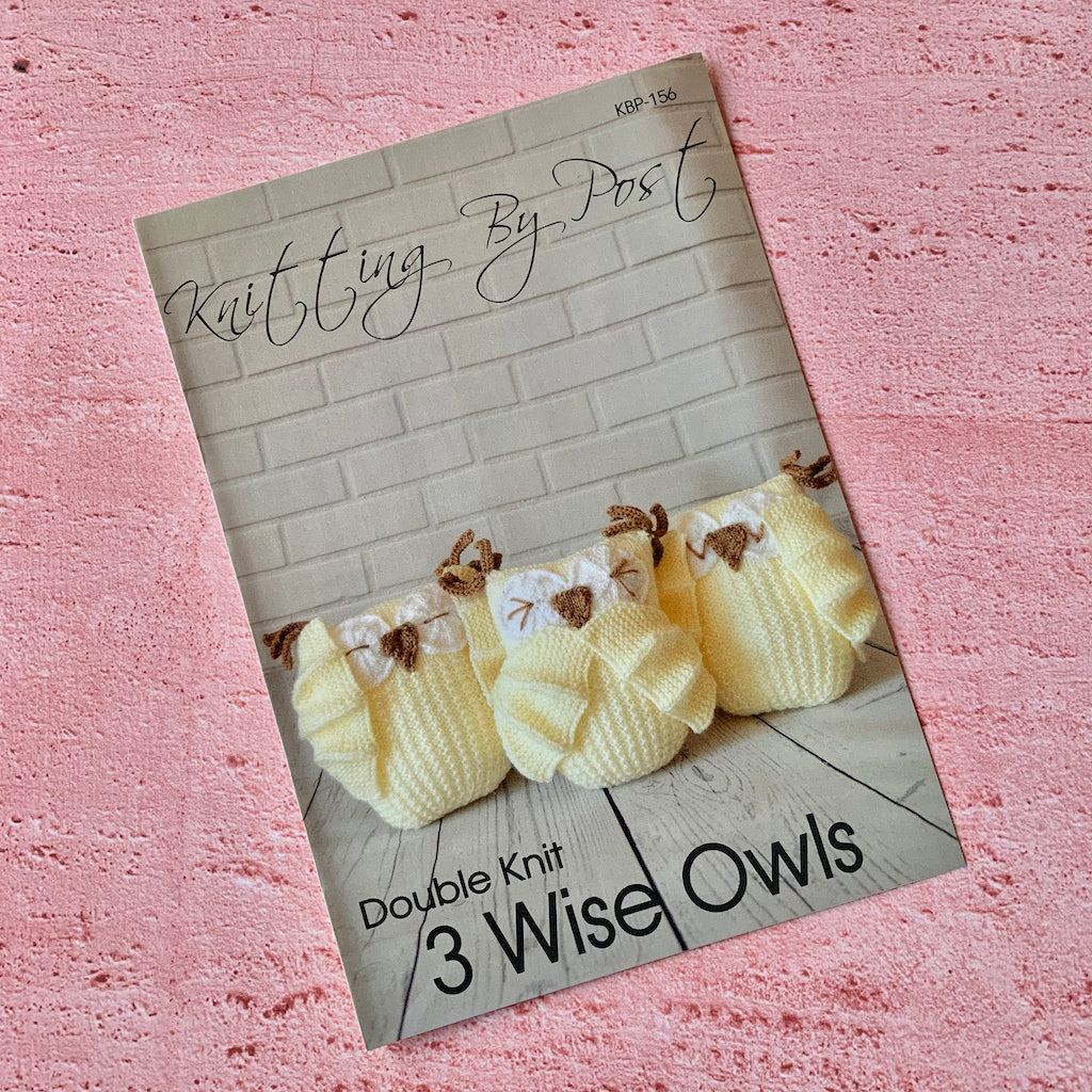 Knitting By Post, 3 Wise Owls