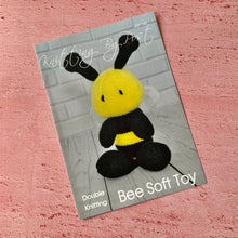 Load image into Gallery viewer, Knitting By Post, Bee Soft Toy
