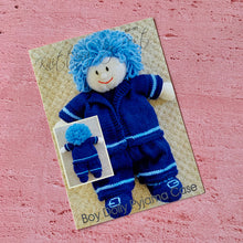 Load image into Gallery viewer, Knitting By Post, Boy Dolly Pyjama Case Knitting Pattern