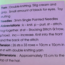 Load image into Gallery viewer, April The Easter Egg Knitting Pattern, Knitting By Post