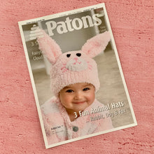 Load image into Gallery viewer, Patons Knitting Pattern 3975, 3 Fun Animal Hats.
