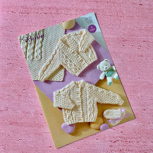 Stylecraft, Baby Aran Knitting Pattern 4772