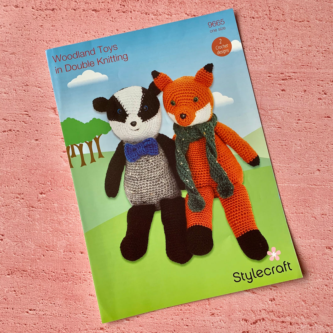 Stylecraft, Crochet Pattern 9665, Woodland Toys