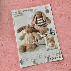 Stylecraft, Knitting Pattern 9355,  Blissful Bunnies