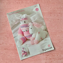 Load image into Gallery viewer, Stylecraft,Wondersoft DK and Merry Go Round Pattern 9276 Unicorn Toys