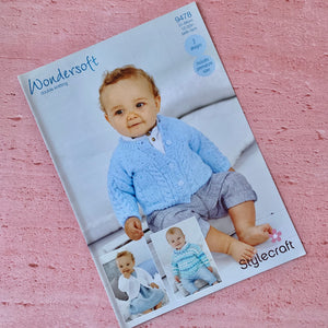 Stylecraft, Wondersoft DK Knitting Pattern 9478