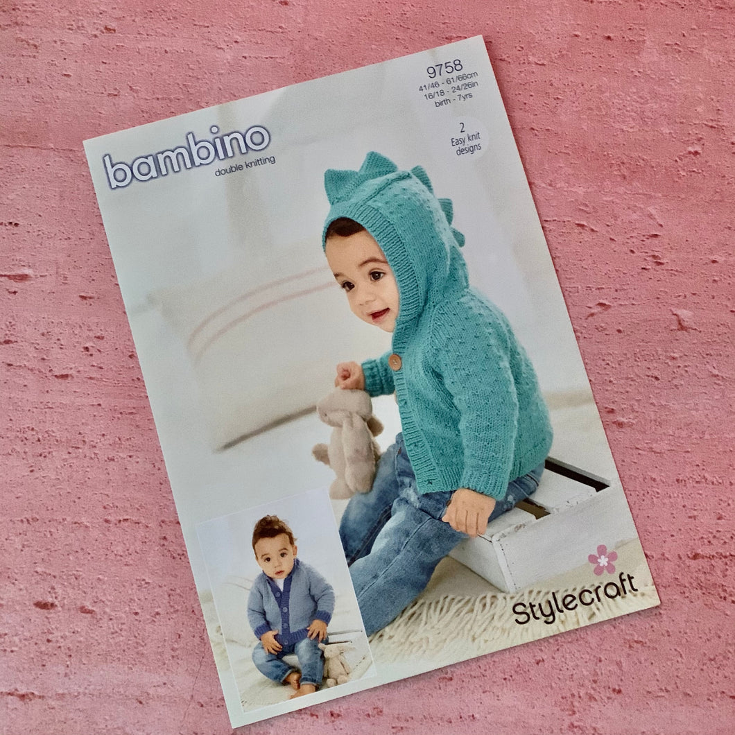 Stylecraft, Knitting Pattern 9758, 2 Easy Knit Designs