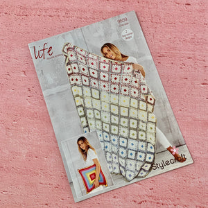 Stylecraft Crochet Pattern 9559 Life DK Blanket and Cushion