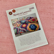 Load image into Gallery viewer, Mystical Lanterns, Crochet Blanket, By Janie Crow