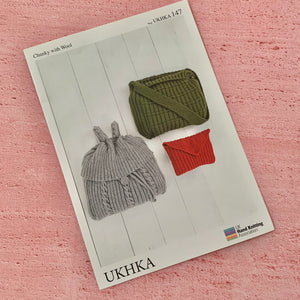 UKHKA, Chunky with Wool, Bags, Pattern 147.