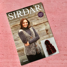 Load image into Gallery viewer, Sirdar Knitting Pattern 8204, V Neck Gilet, Hooded Gilet in Alpine