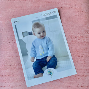 UKHKA , Knitting Pattern 170,  Babies Jumper