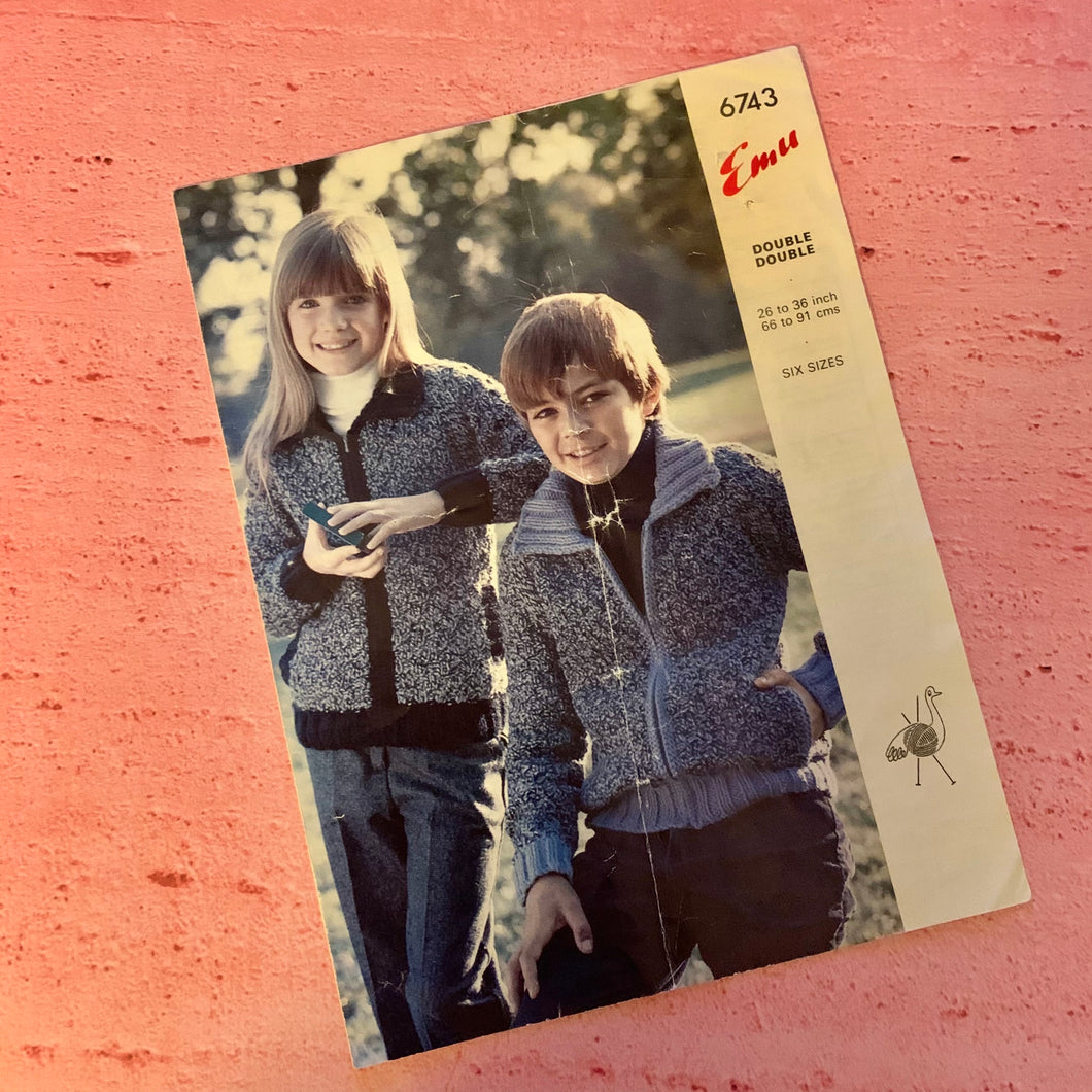Knitting Pattern, Emu 6743