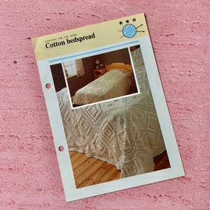 Knitting Pattern, Cotton Bedspread