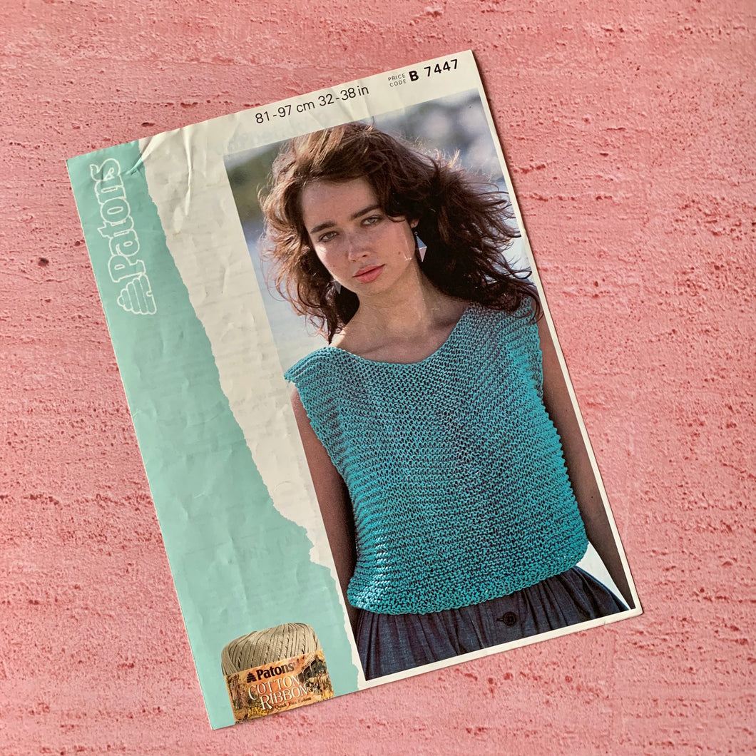 Patons, Knitting Pattern 7447