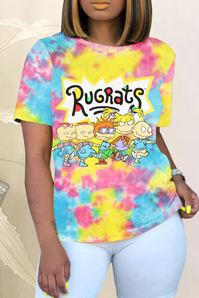 Tie Dye Digital Print T-Shirt