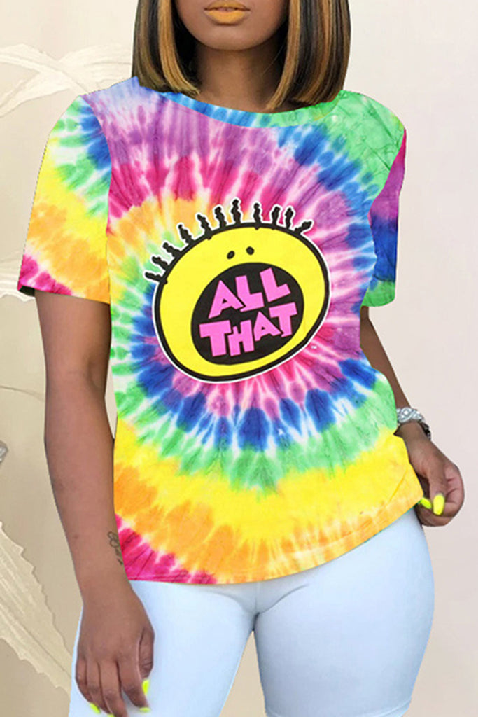Digital Print Tie Dye T-Shirt