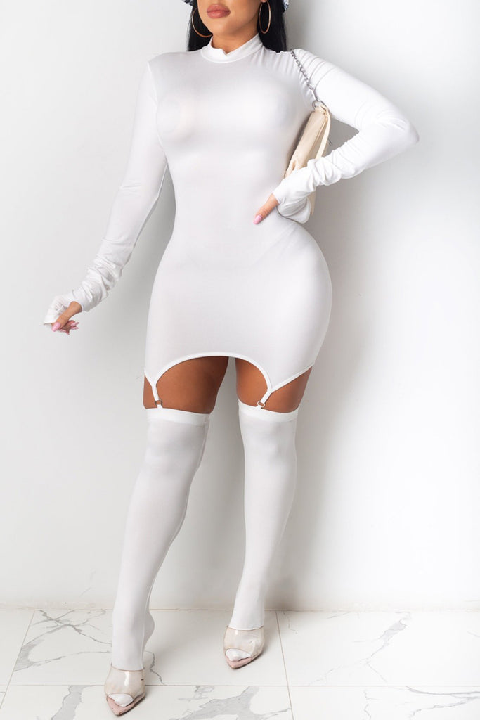 High Neck Knee High Socks Dress