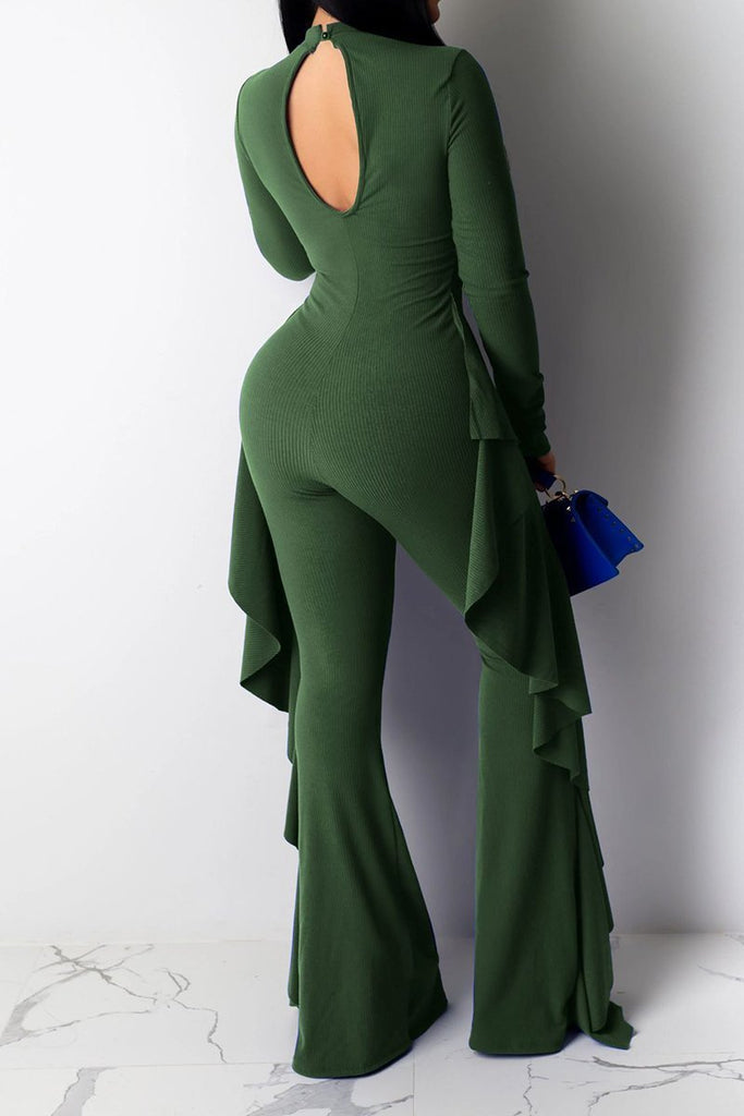 Fungus Edge Cutout Wide Leg Jumpsuit