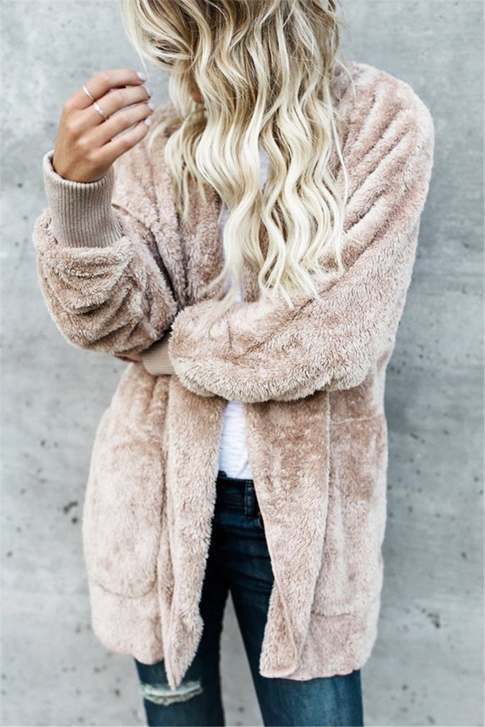 Fake Fur Fleece Jacket - MISSINSTYLE