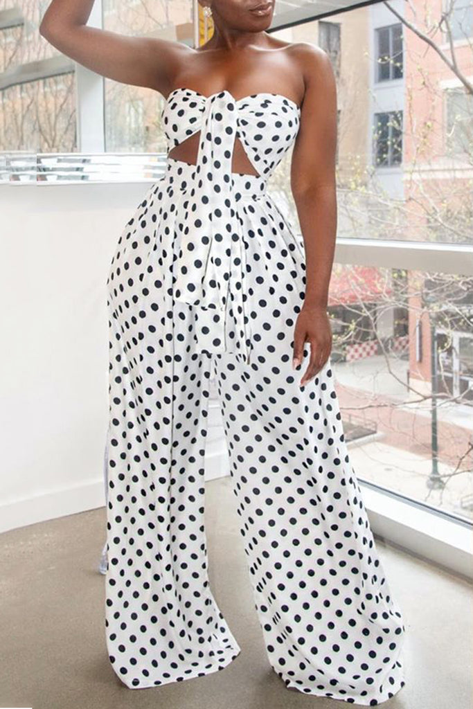 Bowknot Sleeveless Wide Leg Top & Pants